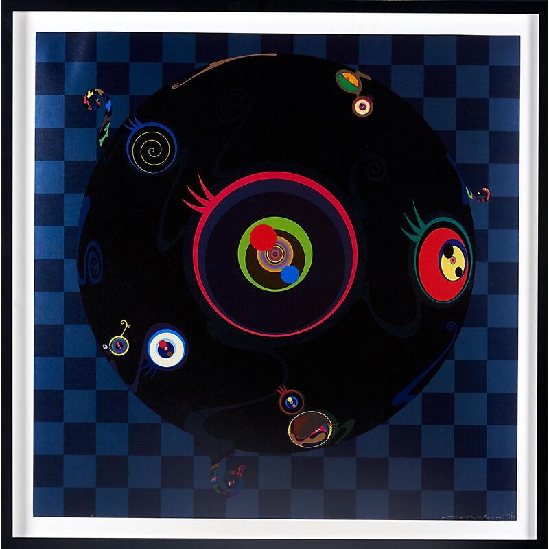 Takashi Murakami, 'Jellyfish Eyes, USA/Japan', 2004, Print, Offset Lithograph In Colors, Rago/Wright