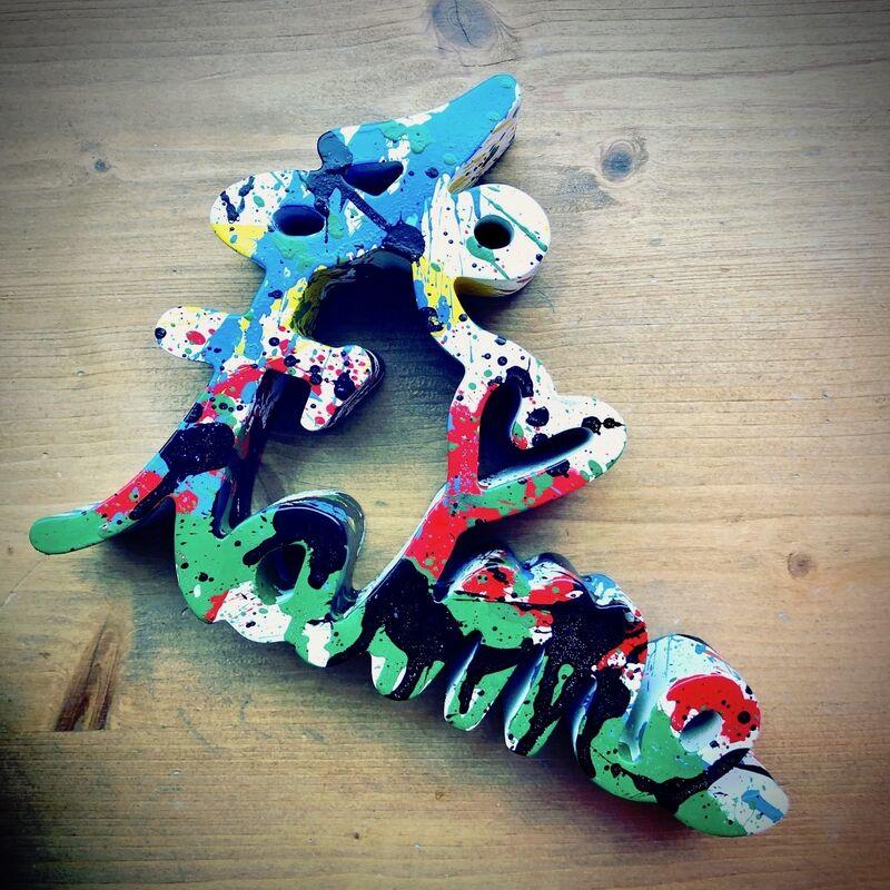 Mr. Brainwash, 'Je t'aime Splash multicolor', 2018, Sculpture, Resin, Frank Fluegel Gallery