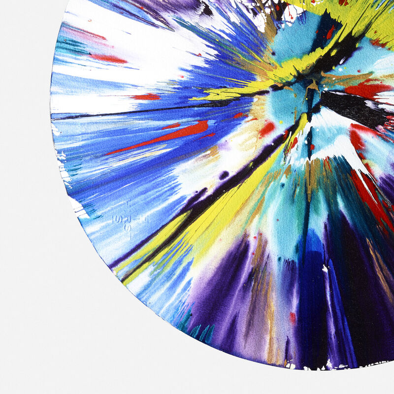 Damien Hirst, 'Circle Spin Painting', 2009, Painting, Acrylic on paper, Rago/Wright/LAMA