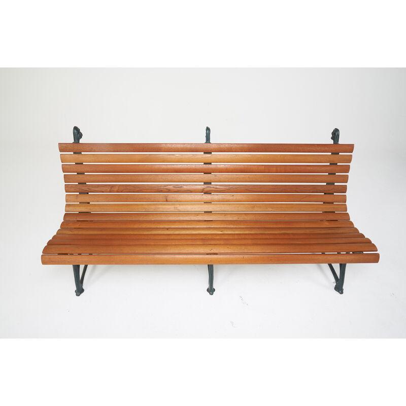 Hector Guimard, 'Large Bench, France', ca. 1907, Design/Decorative Art, Enameled Cast Iron, Teak, Rago/Wright/LAMA