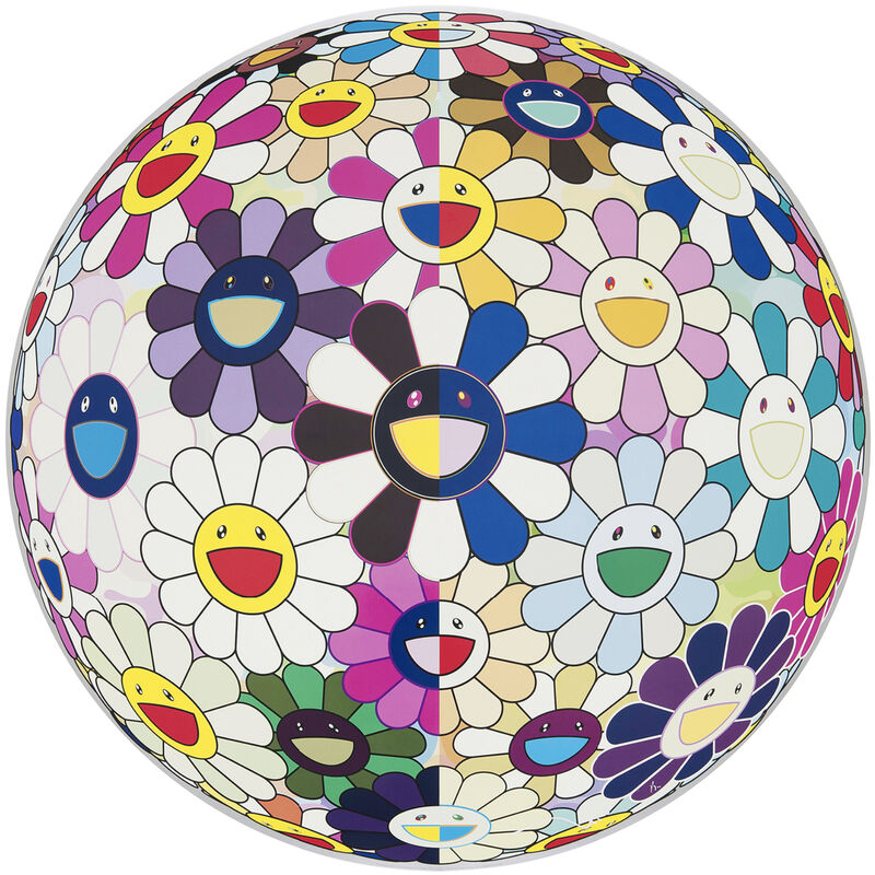 Takashi Murakami, 'Flowerball (3D) From the Realm of the Dead', 2009, Print, Offset print, Pinto Gallery