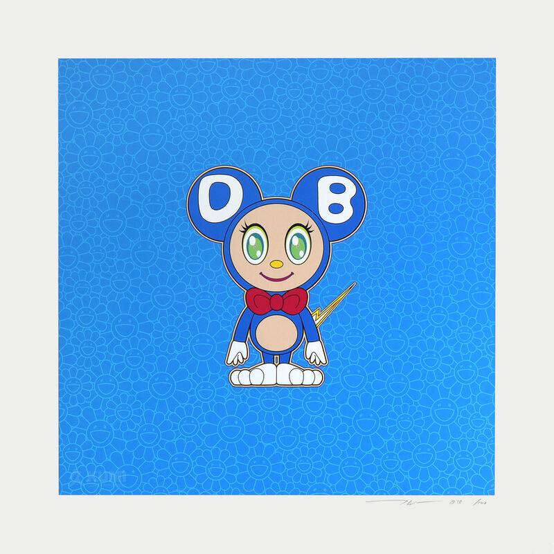 Takashi Murakami, 'Blue Light DOB', 2020, Print, Color Lithograph, Kumi Contemporary / Verso Contemporary