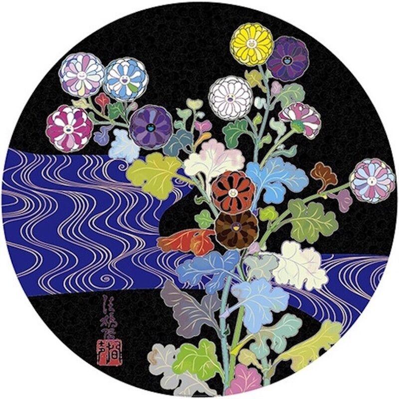 Takashi Murakami, 'Korin:  Azure River', 2015, Print, Offset lithograph with foil and high gloss varnish, michael lisi / contemporary art