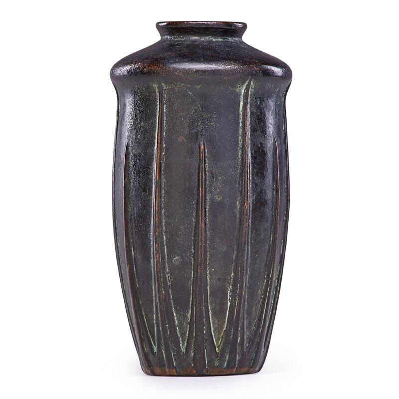 Van Briggle, 'Copper-Clad Vase, Colorado Springs, CO, Aa Van Briggle Colo Spgs 690, Colorado Springs, CO', 1910s, Design/Decorative Art, Rago/Wright