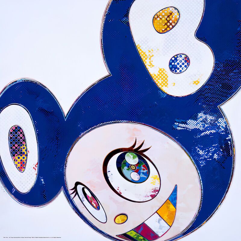 Takashi Murakami, 'And good things, bad things, good days and bad days...', 2014, Print, Offset print, with silver, Pinto Gallery