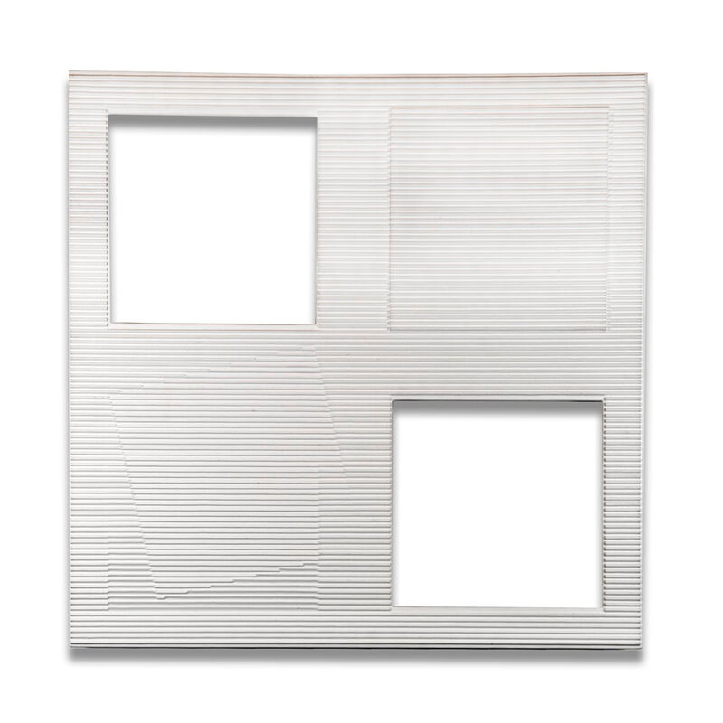 Francisco Salazar, 'Deux Vide et un Plein, Number 832/1987', 2005, Painting, Corrugated cardboard, wood and acrylic paint, Leon Tovar Gallery