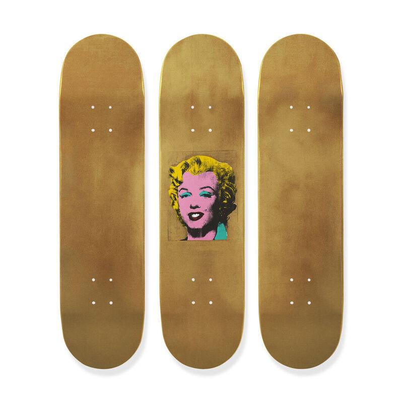 Andy Warhol, 'WARHOL, GOLD MARILYN MONROE TRIPTYCH', 2015, Ephemera or Merchandise, 7-ply Maple Wood, Arts Limited