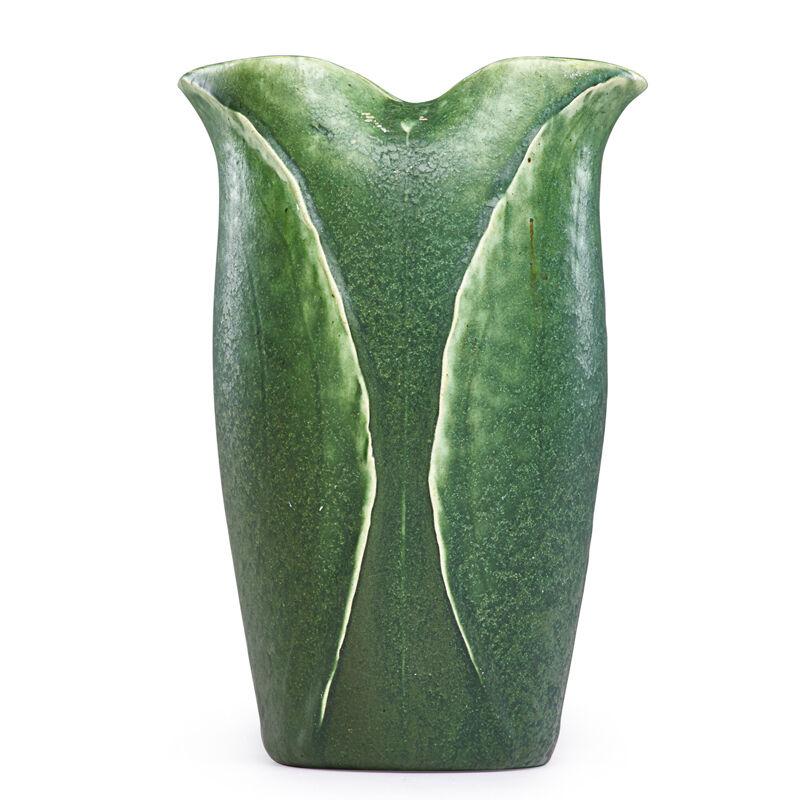 Grueby Faïence Company, 'Early Lobed Vase With Buds, Boston, MA', ca. 1902, Design/Decorative Art, Rago/Wright