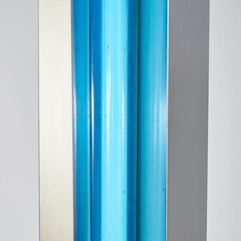 Ettore Sottsass, 'Moonlight Floor Lamp, Italy', 1970s, Design/Decorative Art, Chromed Steel, Enameled Metal, Single Socket, Rago/Wright