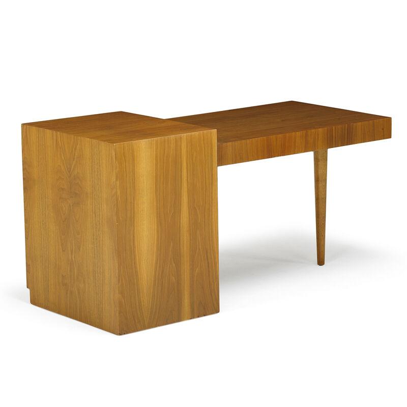 T.H. Robsjohn-Gibbings, 'Desk, Grand Rapids, MI', 1950s, Design/Decorative Art, Walnut, Rago/Wright