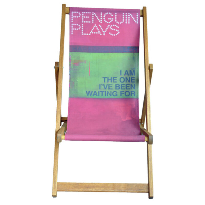 Harland Miller, 'I Am The One I've Been Waiting For', 2013, Print, Deck Chair - Screenprint Cotton Canvas with Teak Oil Treated Frame, Artemizia