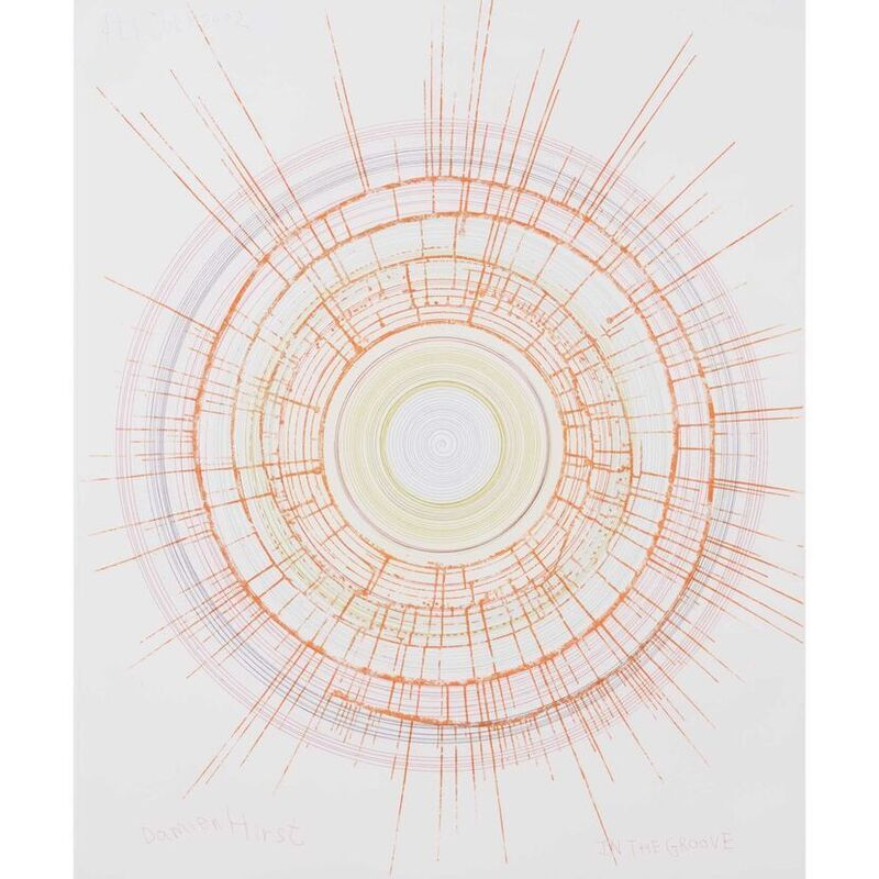 Damien Hirst, 'In the Groove (from In a Spin, the Action of the World on Things, Volume II)', 2002, Print, Colour etching on 350 gsm Hahnemühle paper, Weng Contemporary