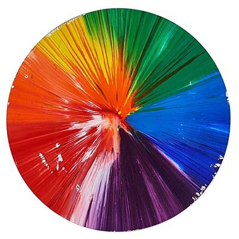 Damien Hirst, 'Circle Spin Painting, 2009', 2009, Print, Acrylic on Paper, Eternity Gallery