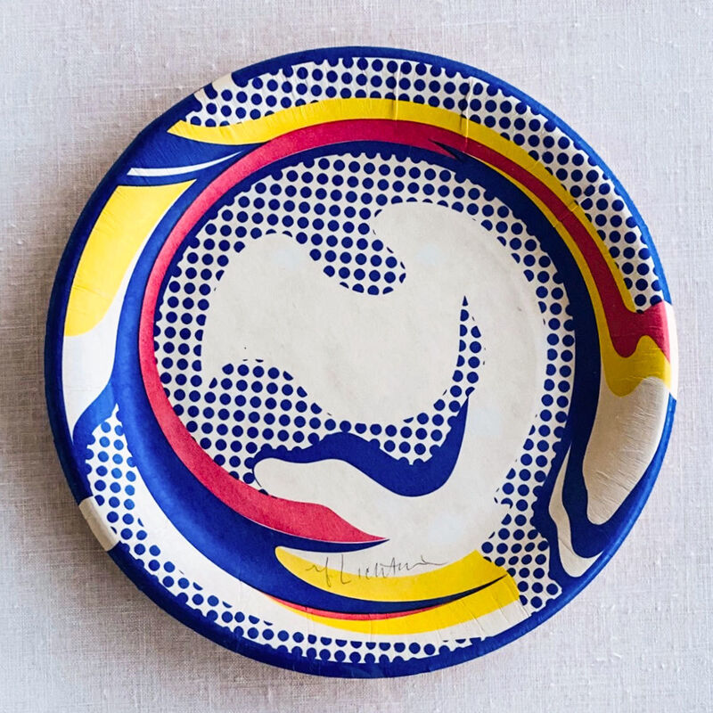 Roy Lichtenstein, 'Paper Plate', 1969, Mixed Media, Screenprint in colors on paper plate, Robert Fontaine Gallery