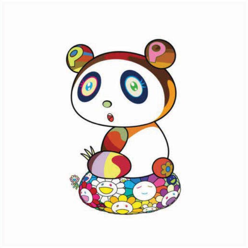 Takashi Murakami, 'Panda-Chan is a cushion of flowers Puyon Puyoung', 2020, Print, Silkscreen on Paper, Marcel Katz Art