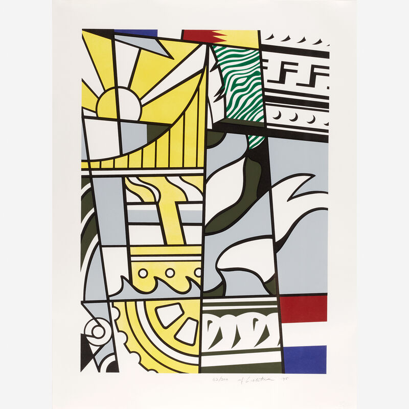 """Roy Lichtenstein, 'Bicentennial Print from """"America: The Third Century""""', 1975, Print, Color lithograph and screenprint on wove paper, Freeman's"""
