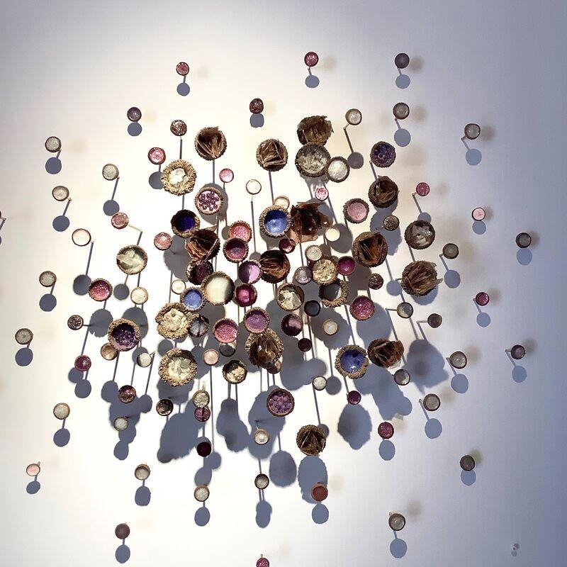 Julie Maren, 'Julietta', 2019, Sculpture, Acorn tops, paint, crystal, mica, glass, glitter, brass, Kenise Barnes Fine Art