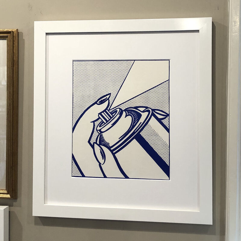 Roy Lichtenstein, 'Spray Can', 1963, Print, Lithograph on white wove paper, Georgetown Frame Shoppe