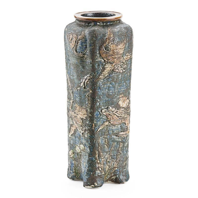 Martin Brothers, 'Vase With Fish, Crab, And Seahorses, England', 1904, Design/Decorative Art, Glazed Stoneware, Rago/Wright