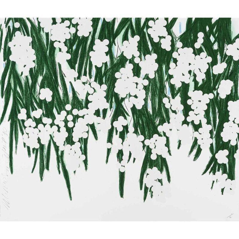 Donald Sultan, 'White Mimosa', 2015, Print, Silkscreen, artrepublic