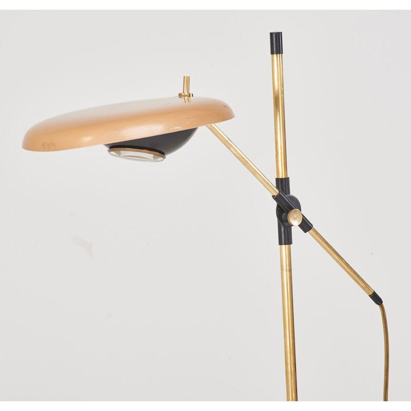 Oscar Torlasco, 'Adjustable Floor Lamp, Italy', 1950s, Design/Decorative Art, Enameled metal, brass, glass, one socket, Rago/Wright/LAMA