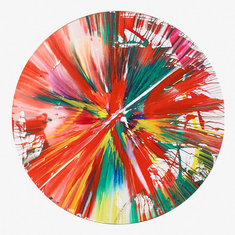 Damien Hirst, 'Circle Spin Painting (Created at Damien Hirst Spin Workshop)', 2009, Painting, Acrylic on paper, Rago/Wright