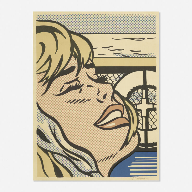 Roy Lichtenstein, 'Shipboard Girl', 1965, Print, Offset lithograph in colors on wove paper, Rago/Wright/LAMA