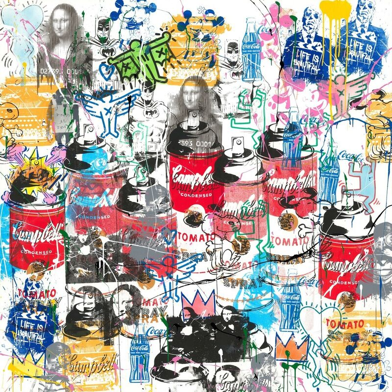 Mr. Brainwash, 'Pop Scene (PS19022)', 2019, Painting, Mixed media on paper, Bel-Air Fine Art