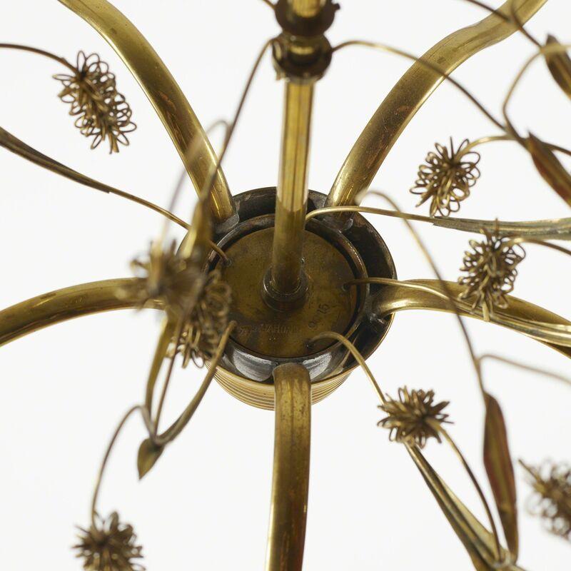 Paavo Tynell, 'Chandelier, model 9015', c. 1945, Design/Decorative Art, Brass, glass, vellum, Rago/Wright