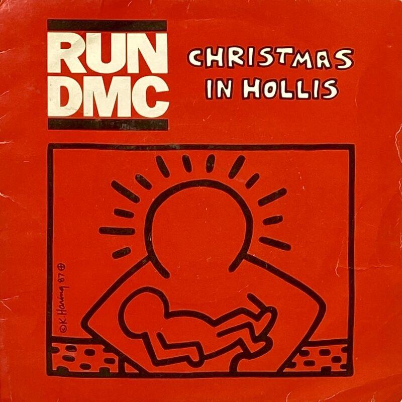 Keith Haring, 'Rare Original Keith Haring Vinyl Record Art (Run Dmc Christmas) ', 1983, Design/Decorative Art, Off-Set Lithograph on vinyl record cover, Lot 180