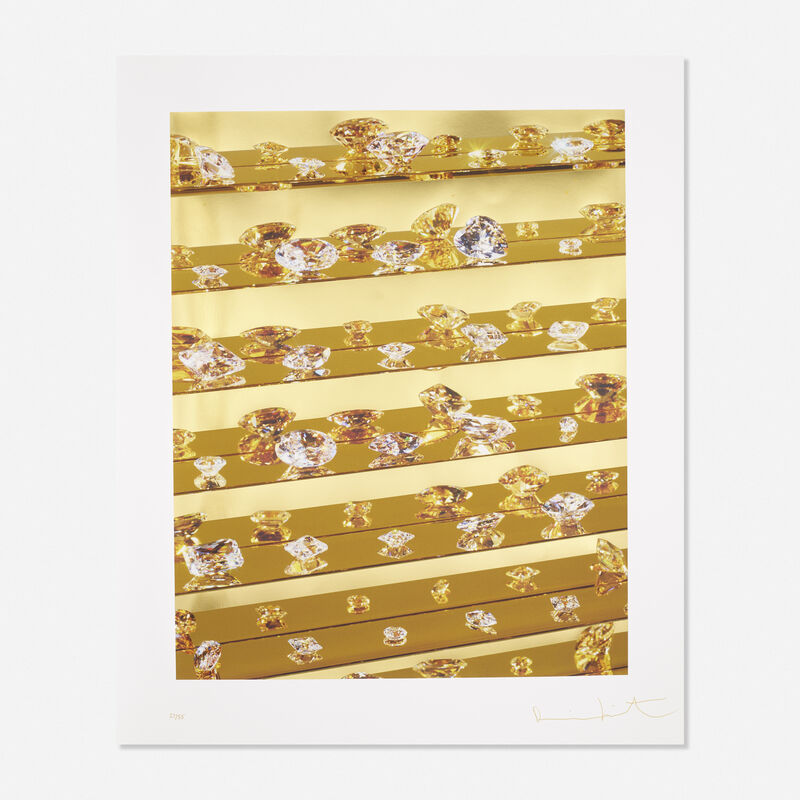 Damien Hirst, 'Gold Tears', 2012, Print, Inkjet print with glaze and foilblock on Hahnemuhle paper, Rago/Wright/LAMA