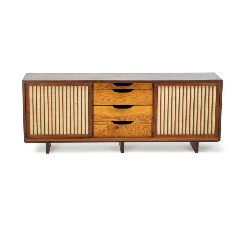 George Nakashima, 'Special Chest, New Hope, PA', 1969, Design/Decorative Art, Walnut, Pandanus Cloth, Rago/Wright