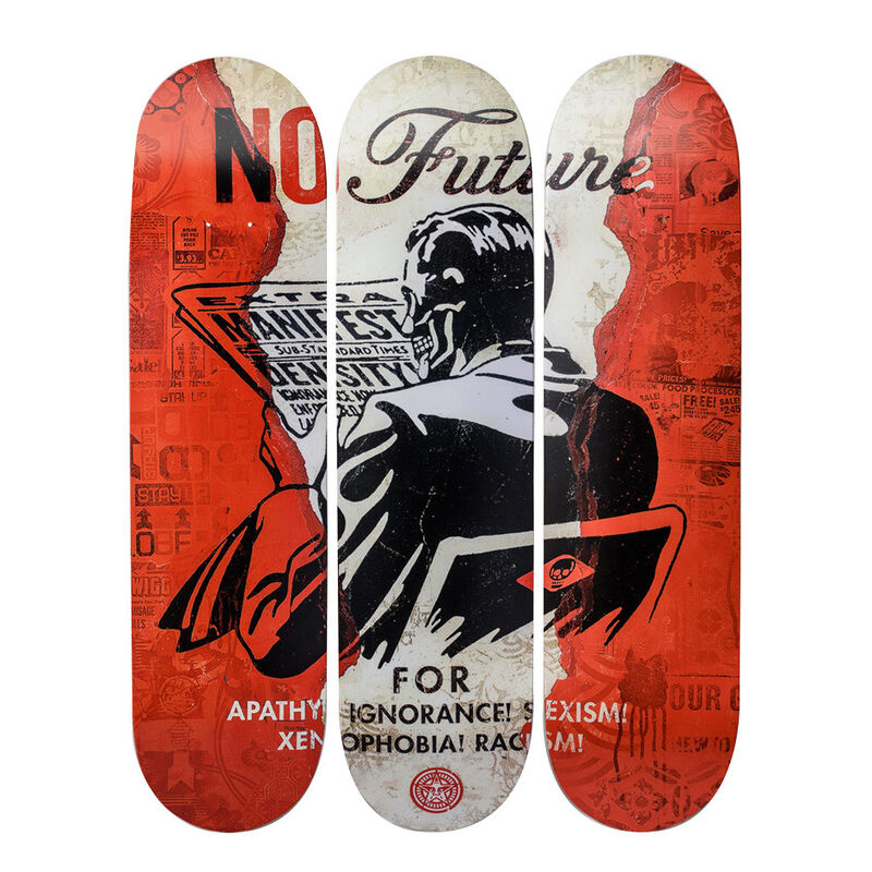 Shepard Fairey, 'No Future Skateboards', 2017, Design/Decorative Art, 7-ply Canadian Maplewood with screen-print, Artware Editions