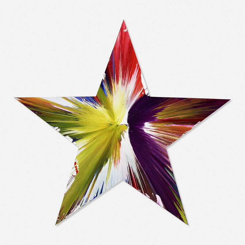 Damien Hirst, 'Star Spin Painting', 2009, Painting, Acrylic and metallic on paper, Kutlesa Gallery