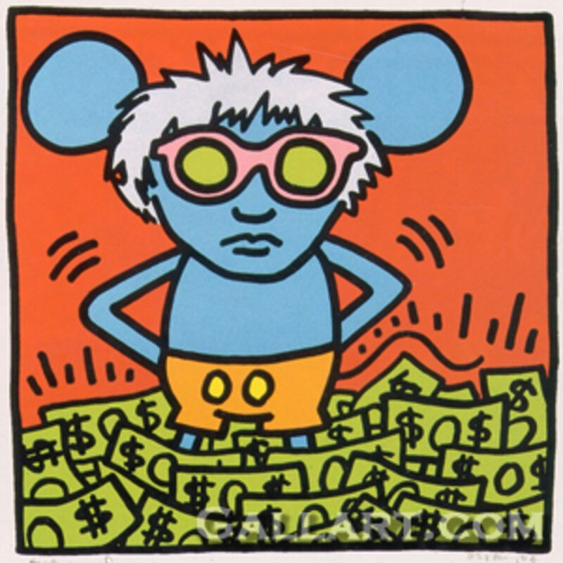 Keith Haring, 'Andy Mouse I', 1986, Print, Screenprint in Colors, Marcel Katz Art