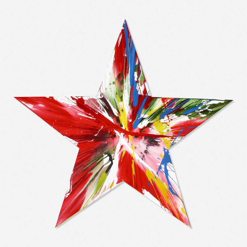 Damien Hirst, 'Star Spin Painting', 2009, Painting, Acrylic on paper, Rago/Wright