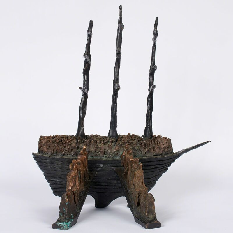 John Behan, 'Arrival', Sculpture, Bronze with brown/gold patina, Doyle