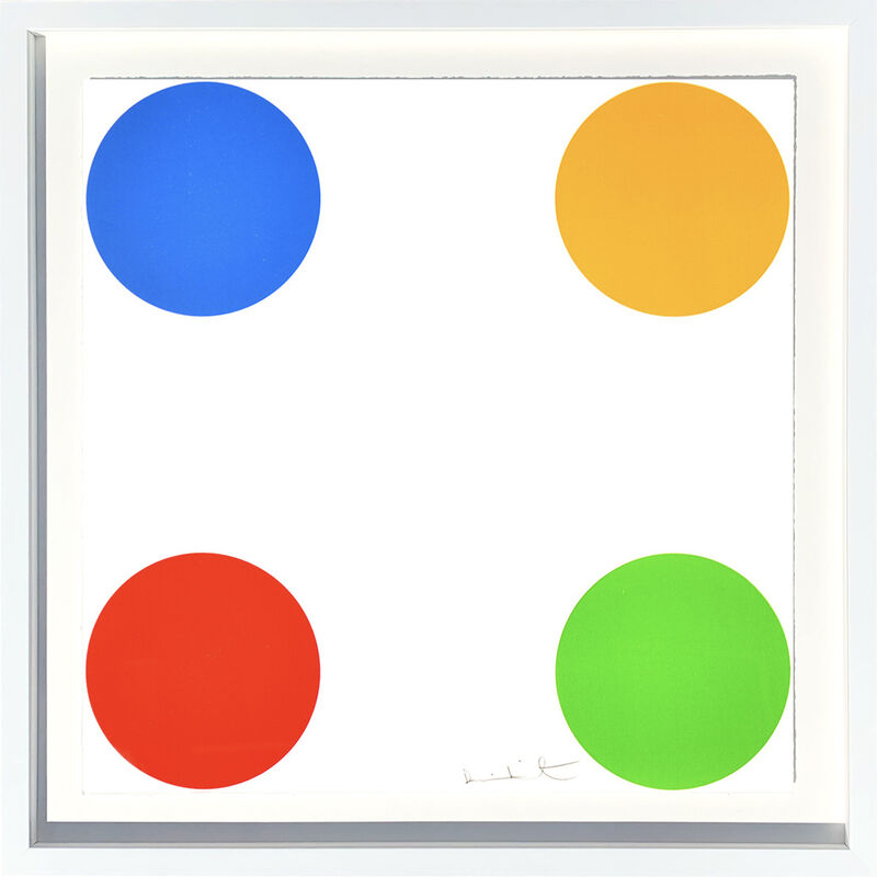 Damien Hirst, 'Norcamphor Woodcut spots', 2011, Print, Woodcut in colors on Somerset White Paper, AbrahamArt