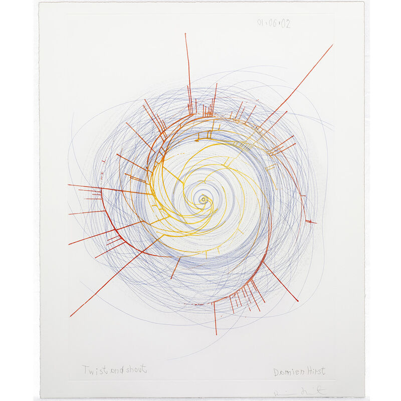 Damien Hirst, 'Twist and Shout (from In a Spin, the Action of the World on Things, Volume II)', 2002, Print, Etching in colours on 350gsm Hahnemühle paper, Weng Contemporary