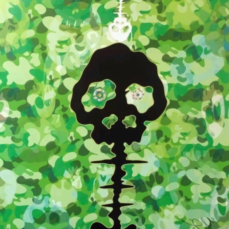 Takashi Murakami, 'Time Bokan (Camouflage/Moss Green)', 2011, Print, Offset print, Pinto Gallery