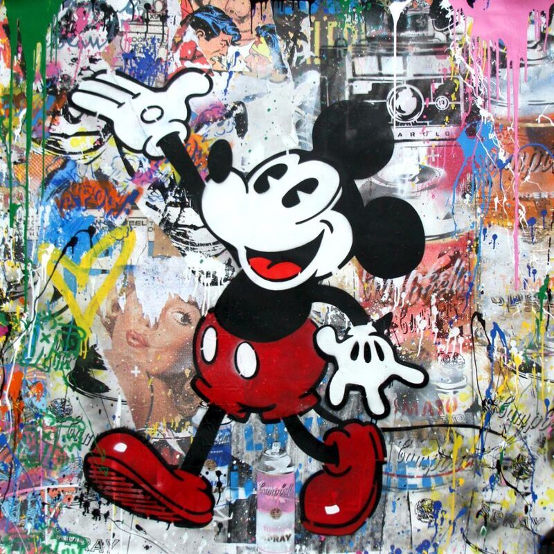 Mr. Brainwash, 'Mickey', 2017, Painting, Stencil and mixed media on paper, The Art Dose