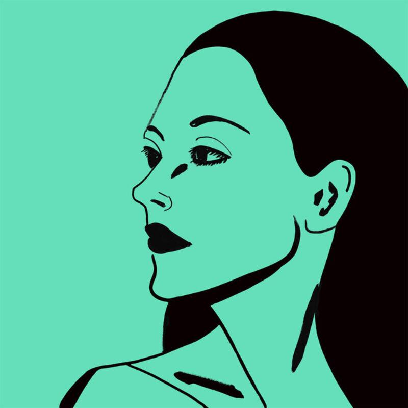 Alex Katz, 'Alex Katz, 'Laura 3' 2018 Print', 2018, Print, Two-color etching on Saunders Waterford, HP, High White, 425 gsm, fine art paper, Hirth Fine Art