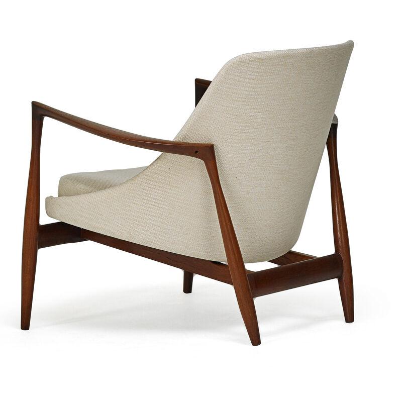 Ib Kofod-Larsen, 'Elizabeth Lounge Chair, Denmark', 1960s, Design/Decorative Art, Sculpted Teak, Upholstery, Rago/Wright
