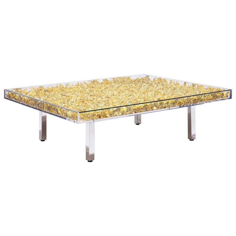 Yves Klein, 'Table Gold', 1963, Other, Glass, Gold Leaf, Plexiglass, Stainless Steel, David Benrimon Fine Art