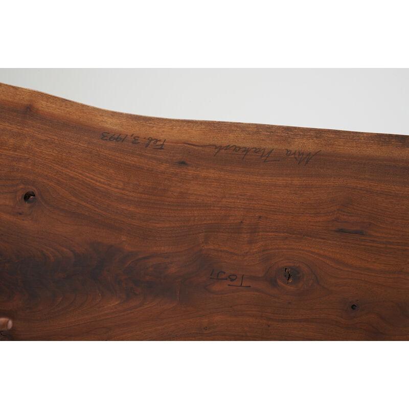 Mira Nakashima, 'Conoid Bench With Back, New Hope, PA', 1993, Design/Decorative Art, Walnut, Hickory, Rago/Wright/LAMA