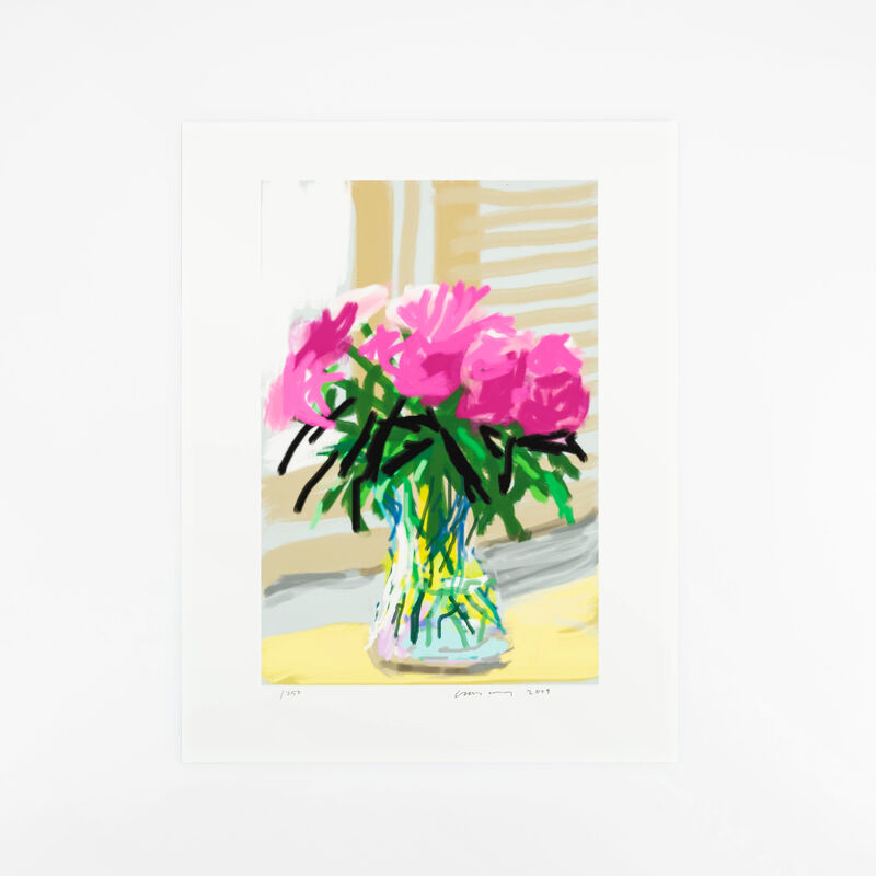 David Hockney, 'My Window. Art Edition (No. 1–250), iPad drawing 'No. 535', 28th June 2009', 2019, Print, 8-colour inkjet print on cotton-fiber archival paper, with printed book, Lougher Contemporary