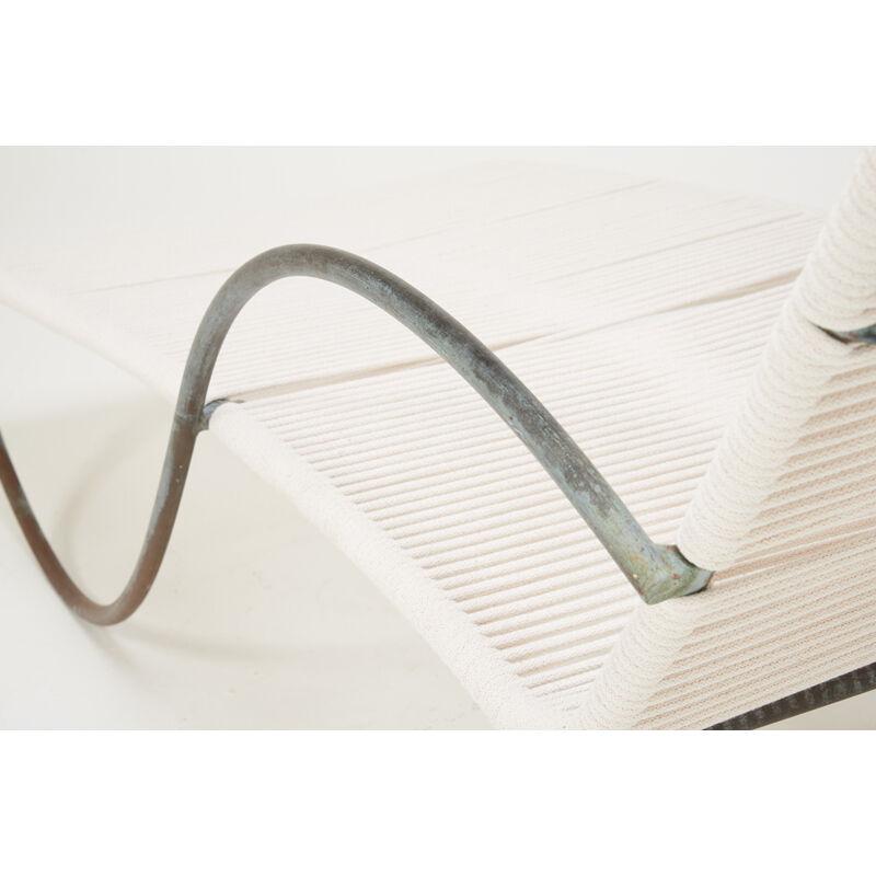 Walter Lamb, 'Pair of Chaises Longues (No. C4700), USA', 1950s, Design/Decorative Art, Bronze, Nylon Rope, Rago/Wright/LAMA