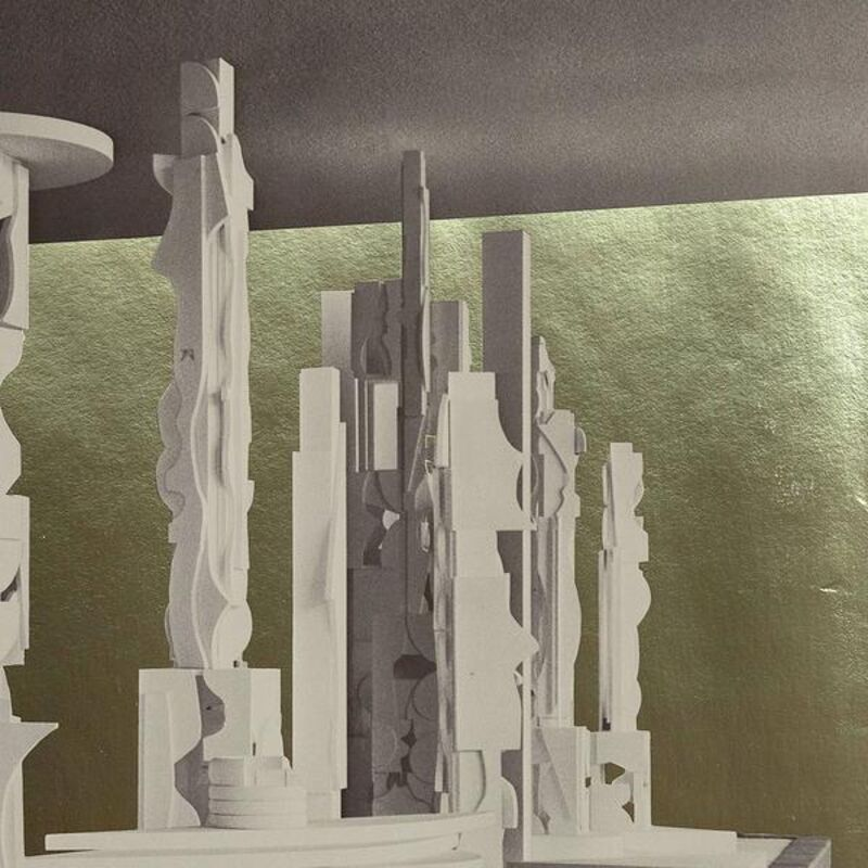 Louise Nevelson, 'Bicentennial Dawn', 1976, Drawing, Collage or other Work on Paper, Screen print with gold foil on paper, Caviar20