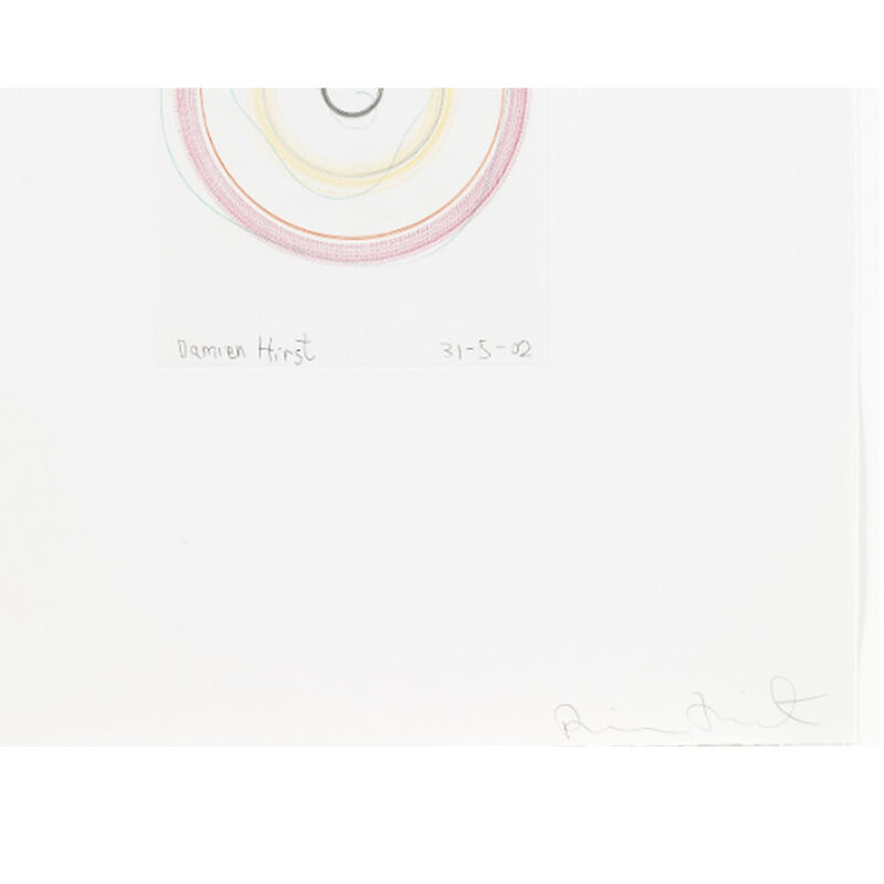 Damien Hirst, 'You threw a melon at my head (from In a Spin, the Action of the World on Things, Volume I)', 2002, Print, Etching in colour, Weng Contemporary