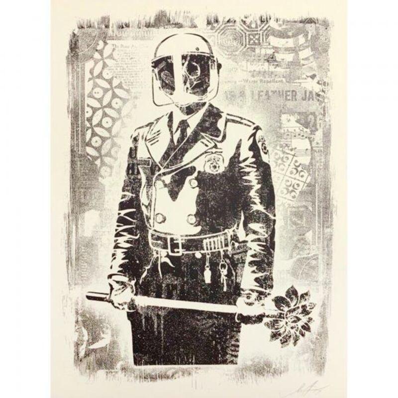 Shepard Fairey, 'Damaged My Florist is a Dick', 2019, Print, Art paper, AYNAC Gallery